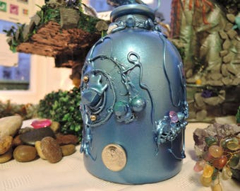Mermaids Ocean Treasure,Decorated Unique Shaped Bottle