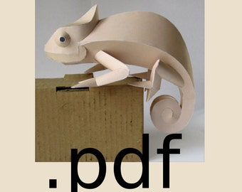 Chamaeleon Papercraft PDF - DIY Template
