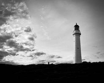 Lighthouse - Cape Otway, VIC, Australia - Black and White Fine Art Print