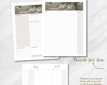 TODAY... 8.5x11 Daily Planner package