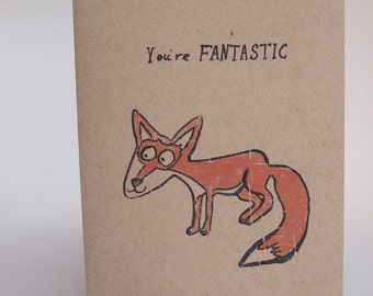 Greeting Card - Fantastic fox
