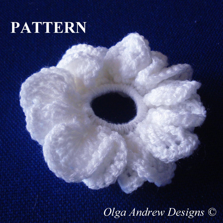 Wedding scrunchie crochet pattern scrunchie pattern crochet