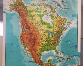 Westermann North America Physical Hanging Map