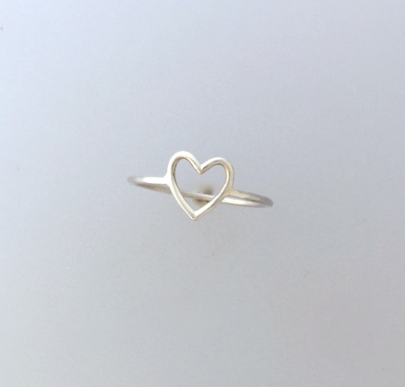 Compassionate Heart Ring-Stackable-Wire Ring-Dainty-Vegan Ring-Love-Vegan Gift-Valentines Day