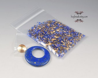 Inspiration Kit #62, Lapis Lazuli, Beads, Crystals