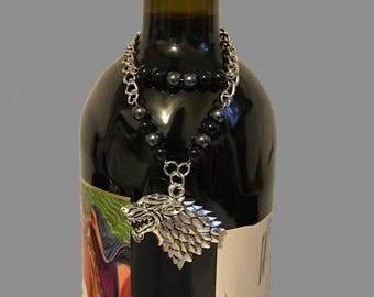 Wine bottle necklace for a Game of Thrones fan