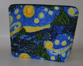 Starry Night Village project bag