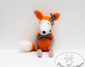 Crochet Fox Toy Handmade Toy Amigurumi Crochet Fox Toy