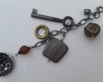 Steampunk charm, steampunk dangle, junk journal charm, rustic charm, junk journal dangle, planner charm, planner dangle, rusty metal, scrap