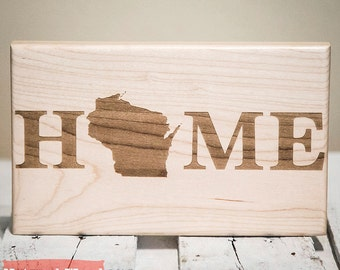 Home Sweet Home - Home State Sign - New Home Sign - New Home Housewarming Gift - Personalized Christmas Gift - New Home Decor