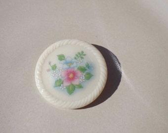 Avon Ceramic Flower Brooch Pin Vintage