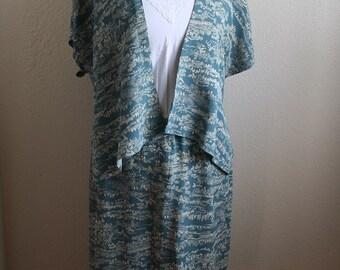 Japanese House Print Top & Skirt Set