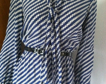 Vintage 70s Shirt Dress Helga Designer Dress M