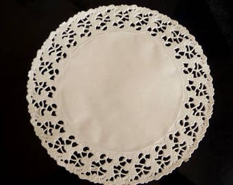 RESERVED set of 10 paper lace doilies