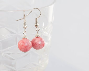 Pink statement earrings, Jewelry lover gift, Pink everyday earrings, Baby pink earrings, Earrings every day, Statement earings 10mm 0.4in
