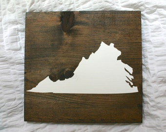 State Sign/Virginia {Rustic Wooden Sign}