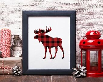 Holiday Moose Printable