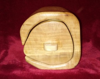 Unique Single Drawer Hardwood and Plywood Bandsaw Jewelry Box