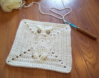 Its a Hoot Owl Afghan Square Crochet Pattern.  Make a baby blanket, afghan, rug, dishcloth as you wish.