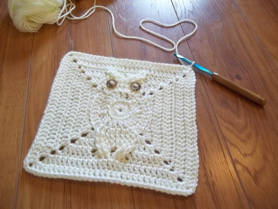 Its a Hoot Owl Afghan Square Crochet Pattern. Make a baby