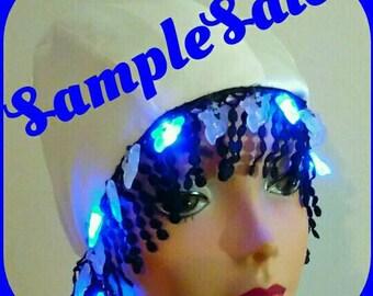 SAMPLESALE: GHOSTLY ENCOUNTER Flashing Lights Roaring Twenties Hat