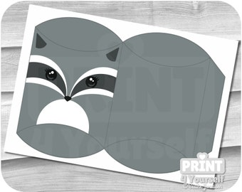 Raccoon Gift Box - Instant Download Printables