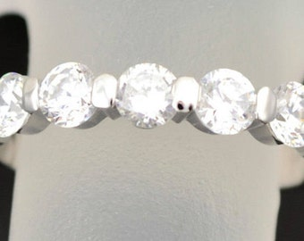 WHITE gold  diamond Wedding Band, Gold Band, White Gold Band, 14k Gold Ring, Diamond Band,  Diamond Jewelry