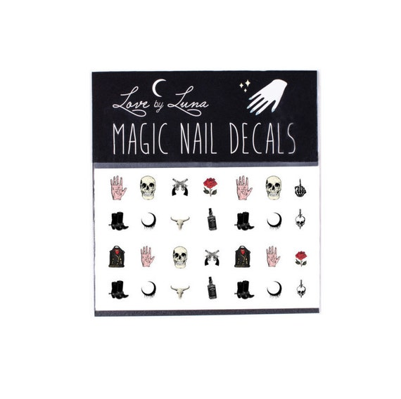 Western Nail Decals / Skull Nail Decals / Rose Nail Decals /
