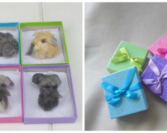 Pet Gift  Pet Lover Gift / Custom Dog Pin / Needle Felted Portrait of Your Pet / example Giant Schnauzer