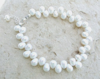Dancing Freshwater Pearls and Sterling Silver Bracelet
