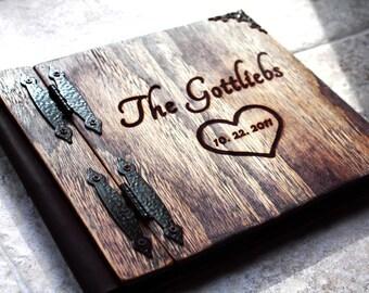 Custom Wedding guest book wood rustic wedding guest book