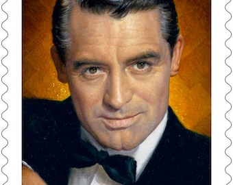 10 Cary Grant Postage Stamps // Ten Classic Movie Star Postage Stamps