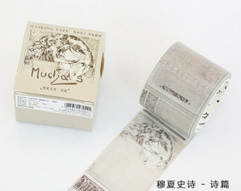 Muscia epic series of European characters - Stickers , Planner, Journal, Craft , Masking ,Diy, Washi tape ,stationery , traveler's