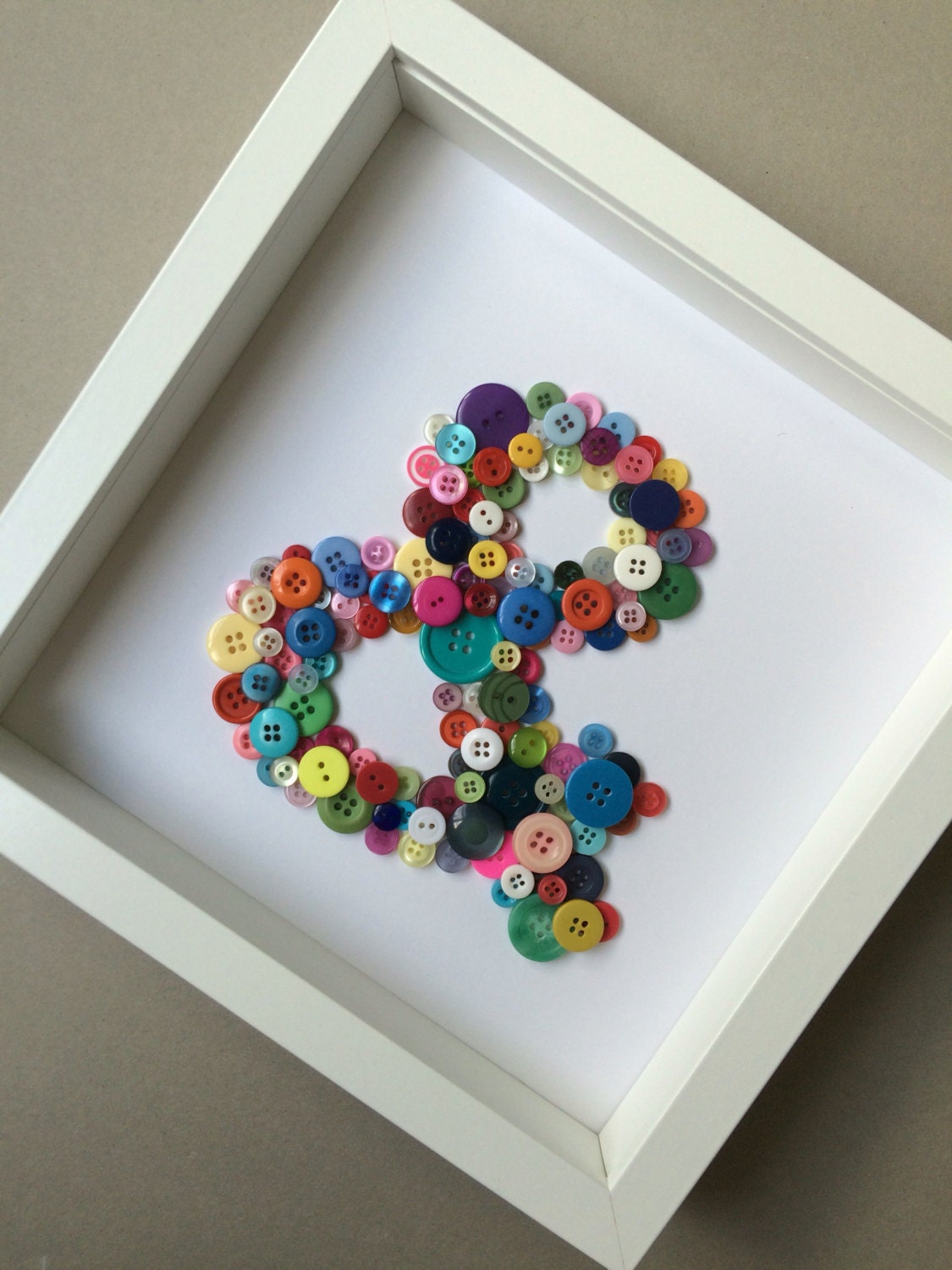 Button Art Teenagers Wall Art Colourful Wall Hanging