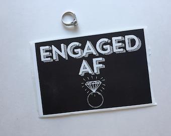 Wine Label, Engaged Wine Label, Bridal Shower Decor, Bachelorette Decor, Champagne Label, Engagement Party