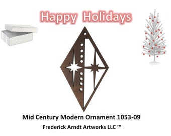 1053-9 Mid Century Modern Christmas Ornament