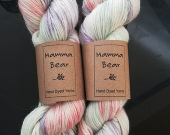 Hand dyed Alpaca DK yarn. Super Soft baby alpaca wool, - Sweet Summertime.