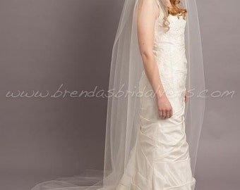 Wedding Veil, Bridal Veil Single Layer,Cathedral Bridal Veil - Patrice
