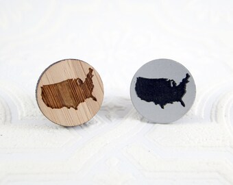 USA Needle Minder - pick silver acrylic or bamboo