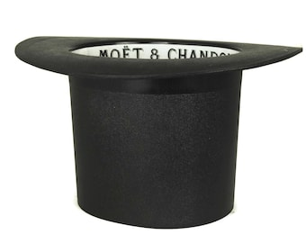 Top Hat Moet & Chandon Champagne Cooler. Ice Bucket with French Champagne Advertising. Vintage French Bar Decor. Gift for Him.