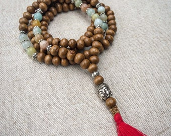 Mala Necklace | 108 Prayer Beads | Japa Mala | Wood Mala | Buddhist Mala | Tassel Necklace | Yoga Necklace |  Meditation Necklace