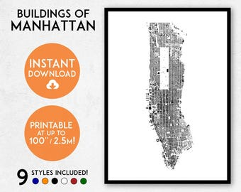 manhattan map print printable new york map print manhattan print manhattan poster