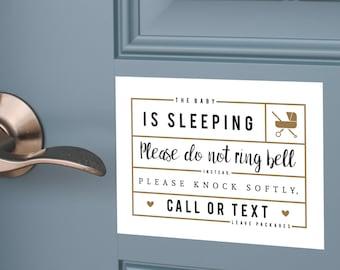 The Baby is Sleeping Magnet u2022 Do not ring door bell  sc 1 st  Etsy & Do not ring bell | Etsy