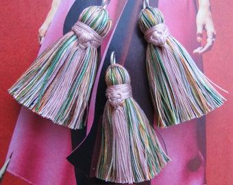 Pink Wrap Tassel Rainbow Silk Mix Tassel Unique Tassel for Malas Tassel Necklace Charm Rainbow Multicolor Tassel Mala DIY Bead Craft Supply