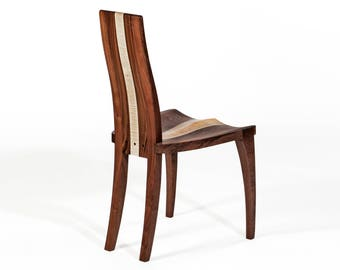 Wood Dining Chair - Scandinavian Dining Chair High Back in Walnut, Cherry or Mahogany for Your Modern Dining Room Decor, FREE Shipping USA
