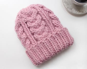 Long wool hat