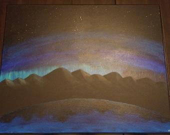 Aurora Mountains 16x20