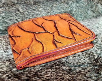 Peeling skin, Genuine leather,  6 Pocket wallet with Billfold. A Zombie lovers dream of a wallet.
