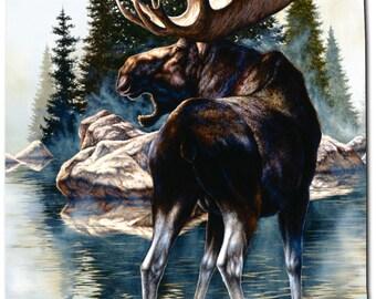 NEW Moose Wildlife Large Mouse Pad - Artist Mark Mansanarez