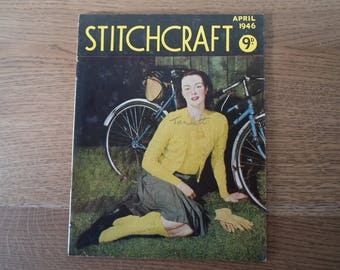 Stitchcraft April 1946  cycling socks and cable knits